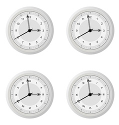 Clock dial in four variants with different design vector