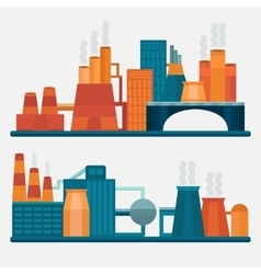 Concept design factory vector image