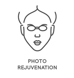 cosmetology and skincare photo rejuvenation vector image