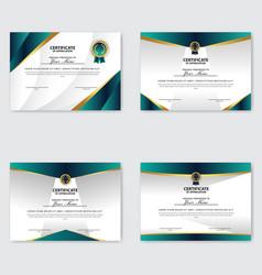 Creative certificate appreciation award vector