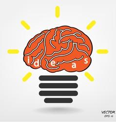 Creative light bulb vector image