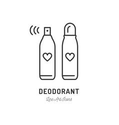 Deodorant icon sweat remedy perfume or hairspray vector