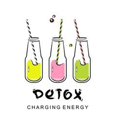 Detox health cocktail vector