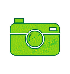 digital photo camera sign lemon scribble vector image vector image
