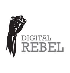 digital rebel concept vector image