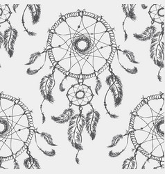 Dream catcher seamless parren vector