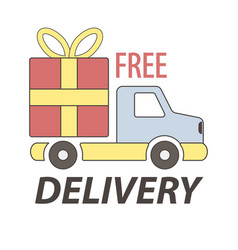 Express free delivery service logo concept vector