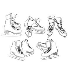 Figured skates vector