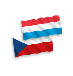 flags czech republic and luxembourg on a white vector image