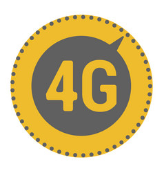 Flat 4g template with speed meter icon and wave vector