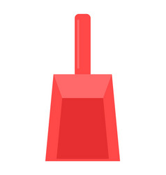 flat red scoop for sweeping clean up garbage a vector image