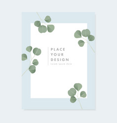 Floral wedding invitation greeting card with vector