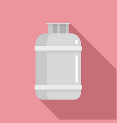 Gas cylinder lpg icon flat style vector