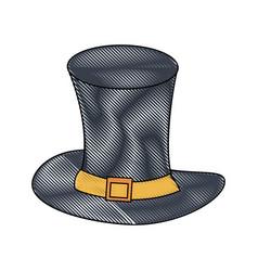 gentleman old hat vector image