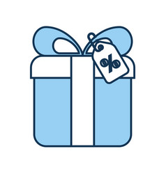 giftbox present with percent tag vector image