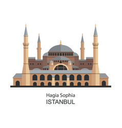 hagia sophia in istanbul turkey highly detailed vector image