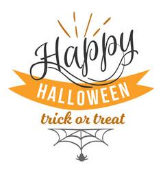 happy halloween logo sign vector image