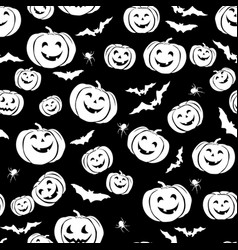 happy halloween seamless pattern holiday party vector image