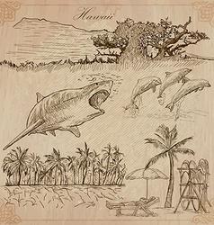 Hawaii - Travel An hand drawn vector image