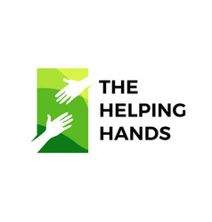 helping hand logo icon vector image