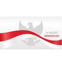 indonesia day banner vector image