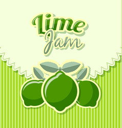 Lime jam label vector