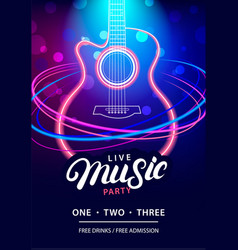 Live music party design template vector