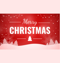 merry christmas red theme concept banner cartoon vector image