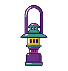 oil lamp icon cartoon style vector image