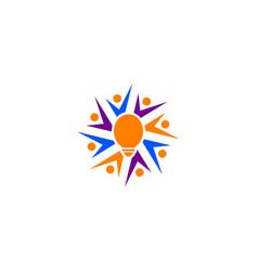people idea logo template vector image