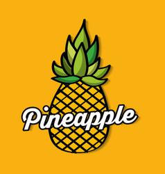 Pineapple fresh fruit premium quality vector
