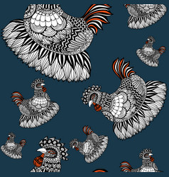 seamless chicken vector image