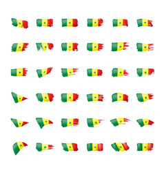 senegal flag on a white vector image