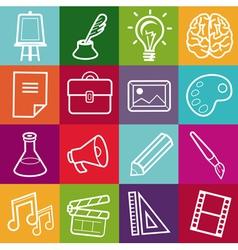 Set creative icons vector