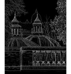 sketch panorama rome vector image