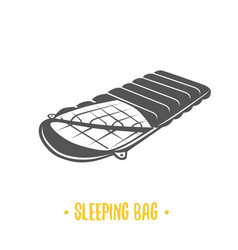 sleeping bag vector image