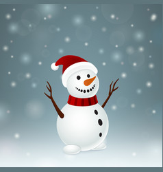 Smiley funny snowman vector