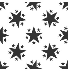 Star icon seamless pattern on white background vector