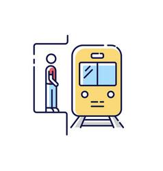 subway rgb color icon vector image