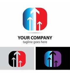 Success business arrow logo icon vector