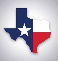 Texas tx state flag map vector