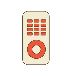 TV control with buttons vector image