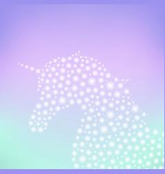 Unicorn sparkling silhouette vector