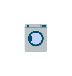 washing machine icon flat element vector image