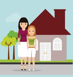 women family home estate image vector image