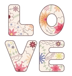 word love painted vintage vector image