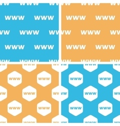 Www pattern set colored vector