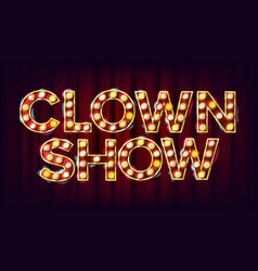 clown show banner sign for traditional vector image vector image