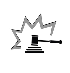 judge hammer vector image