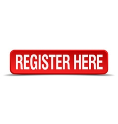 register here red 3d square button isolated on vector image vector image